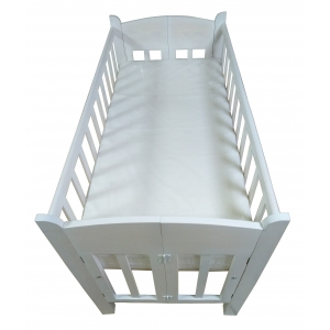 Cuna Plegable Alturas Ajustables Color Blanco